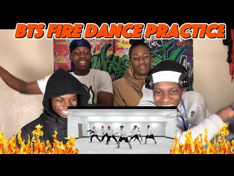 [CHOREOGRAPHY] BTS (방탄소년단) '불타오르네 (FIRE)' Dance Practice - REACTION
