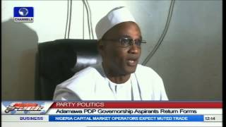 Party Politics: Adamawa PDP Governorship Candidates Return Forms