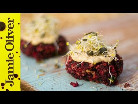 Beetroot & feta burgers: The Happy Pear