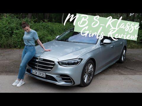 Larissa fährt den 2021 Mercedes-Benz S500 4MATIC (BR 223) mit First Class Fond [4K] - Autophorie