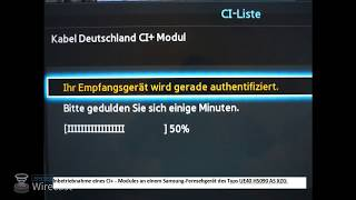 Einrichtung eines CI+ Moduls an einem Fernsehgerät