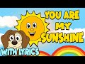 Download Lagu You Are My Sunshine WITH LYRICS  Nursery Rhymes And Kids Songs Mp3 Free