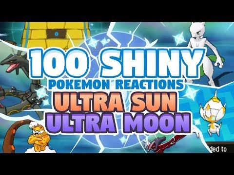 100 EPIC SHINY POKEMON REACTIONS! Pokemon Ultra Sun and Ultra Moon Shiny Montage