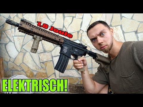 BESTES SOFTAIR GEWEHR - Review und Test schießen! | Bolt B4 MK18 Hellfire (elektrisch)
