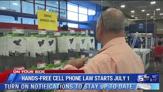 Hands-free cell phone use while driving law starts July 1