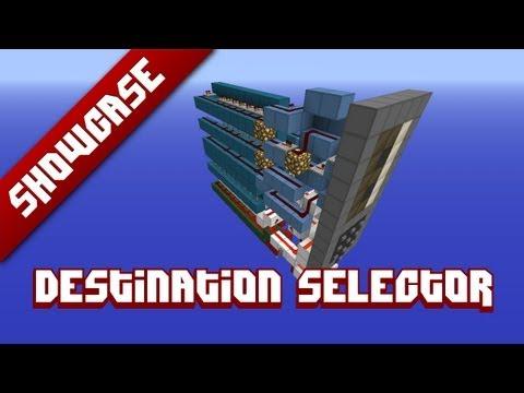 Destination Selector W Build In 7 Segment Display Minecraft Project
