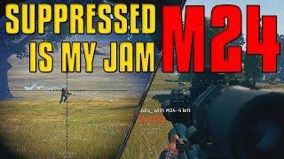 Suppressed M24 is my JAM | PUBG