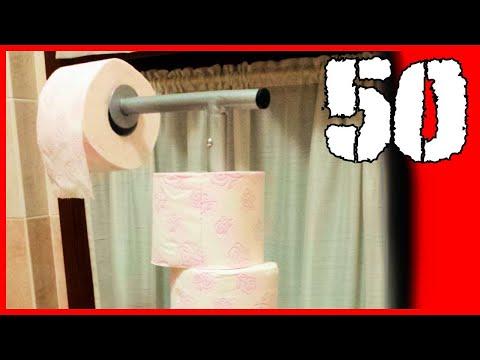 50 - Portarotolo Carta Igienica Fai Da Te / Toilet Paper Holder D.i.y.