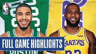 CELTICS at LAKERS | FULL GAME HIGHLIGHTS | February 23, 2020  The Los Angeles Lakers defated the Boston Celtics, 114-112, to win their 5th consectuive game. Anthony Davis (32 PTS, 13 REB, 2 BLK) and LeBron James (29 PTS, 8 REB, 9 AST) combined for 61 PTS for the Lakers in the victory, while Jayson Tatum tallied a career-high tying 41 PTS for the Celtics.  Catch Monday's action on NBA TV: Atlanta Hawks at Philadelphia 76ers, 7:00 pm/et & Memphis Grizzlies at L.A. Clippers, 10:30 om/et  Subscribe to the NBA: https://on.nba.com/2JX5gSN   Full Game Highlights Playlist: https://on.nba.com/2rjGMge  For news, stories, highlights and more, go to our official website at https://nba_webonly.app.link/nbasite  Get NBA LEAGUE PASS: https://nba.app.link/nbaleaguepass5