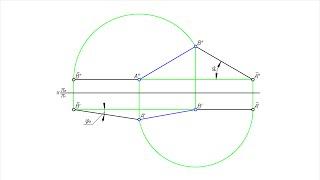 Углы наклона прямой к плоскостям проекций. Метод вращения