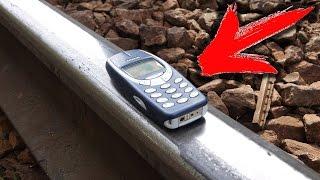 ЭКСПЕРИМЕНТ: NOKIA 3310 VS. ПОЕЗД  -   КТО КОГО ?! ЖЕСТКИЙ КРАШ-ТЕСТ !!!