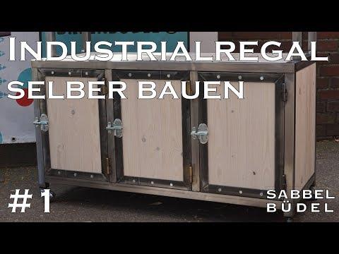 #1 Industrial Regal - Stahl - Holz - selber bauen - schweißen