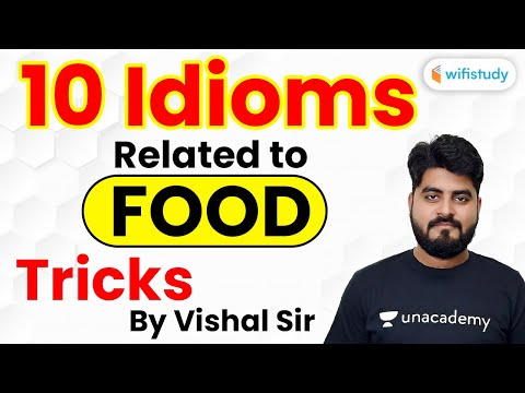 10 Idioms Related to Food Tricks | English Grammar by Vishal Sir