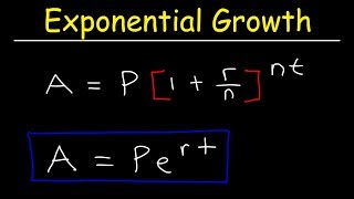 Compound Interest & Population Growth Word Problems - Logarithms