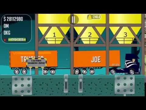Trucker Joe transports land and sand on a brick factory