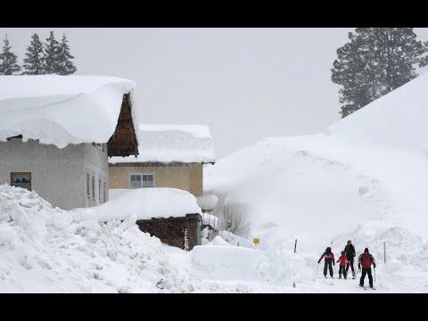 The heaviest snowfalls in recent years.