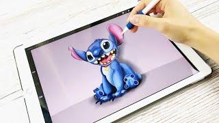 IPAD ART: Let's draw Stitch on iPad from  Disney Lilo and Stitch | Procreate + iPad Pro