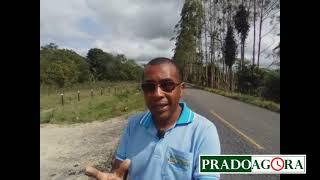 A rodovia BA489 Prado/Itamaraju se encontra esburacada