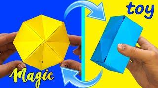 Бумажная игрушка Антистресс- трансформер с ФОКУСОМ / Paper toy Antistress transformer with FOCUS