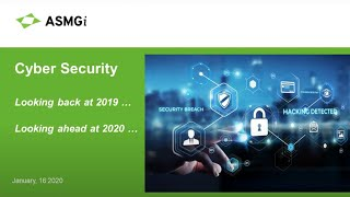 Cybersecurity | What We Learned In 2019, What We Can Expect In 2020
