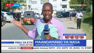 Wafuasi wa NASA wafanya maandamano kumlazimisha mkurugenzi mkuu wa IEBC Chiloba ajiuzulu:Mbiu ya KTN