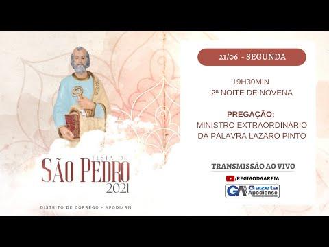 2ª noite de novena da festa de São Pedro do Córrego 2021 em Apodi