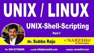 Unix Shell Scripting Part 1 | UNIX Tutorial | Mr. Subba Raju