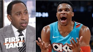 Russell Westbrook should be fined for verbal altercation with Jazz fan – Stephen A. | First Take