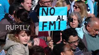 Argentina: Thousands protest government negotiations with IMF