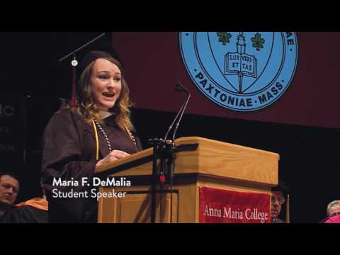 Anna Maria College Commencement 2017