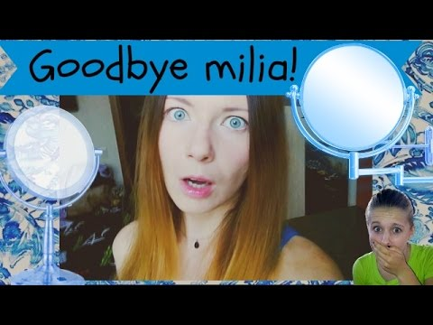 Video 7❤How to get rid of face milia. My story and removed cyst