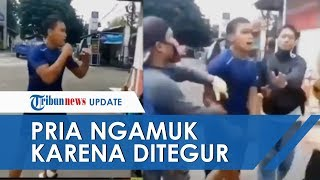 Kronologi Pria Ngamuk dan Ajak Berkelahi karena Ditegur Tidak Pakai Masker, Sudah 4 Kali Diberitahu