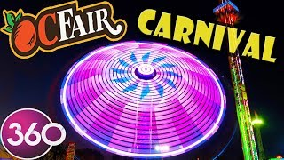 OC Fair 2018 Carnival Rides in 360 Video