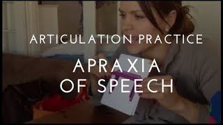 Apraxia - Two Syllable Word Articulation Practice