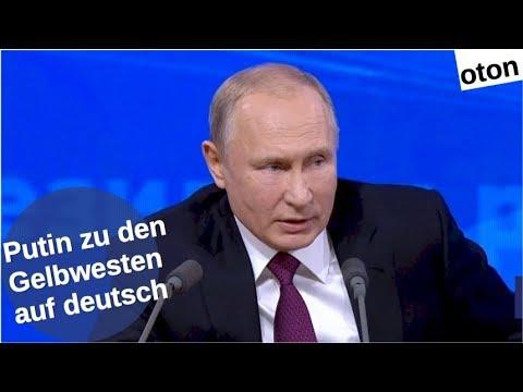Putin zu den Gelbwesten-Protesten auf deutsch [Video]