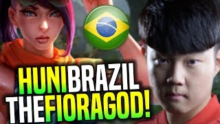 Huni The Fiora God in Brazil SoloQ! - SKT T1 Huni Playing Fiora Toplane | SKT T1 Replays