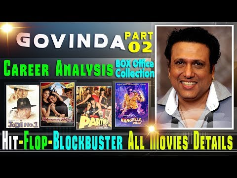 Govinda Box Office Collection Analysis Hit and Flop Blockbuster All Movies List. Part 02