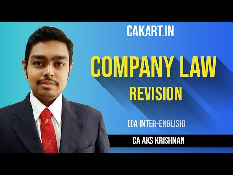 Company Law Revision by prof  AKS Krishnan