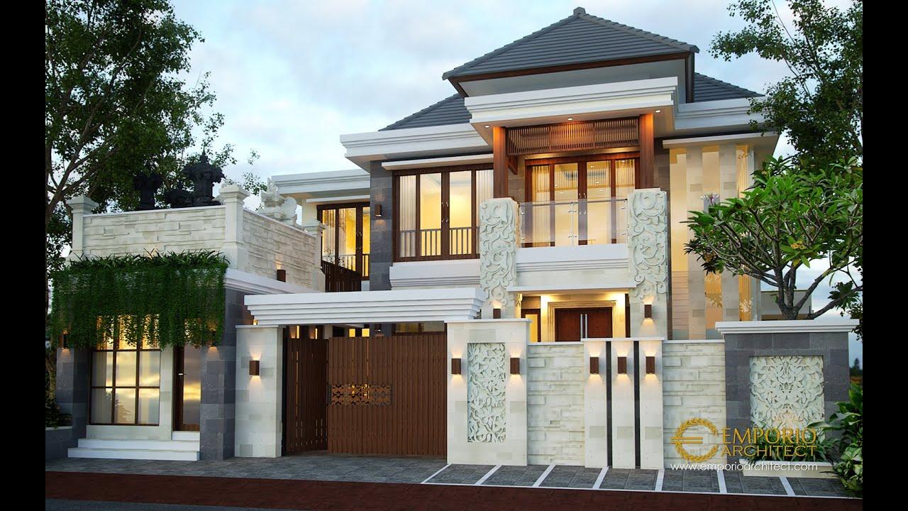 Video 3D Desain Rumah Villa Bali 2 Lantai Ibu Citra di Denpasar, Bali