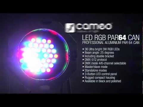 CAMEO LED PAR64 RGB 36x3 SL LED PAR reflektor