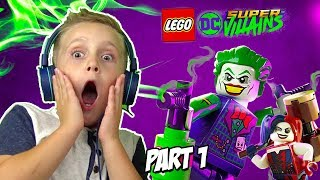 LEGO DC Super-Villains Gameplay Part 1 | Joker and Harley Quinn Escape | KIDCITY