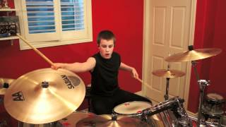 COMBICHRIST - Never Surrender (drum cover) by 14 y/o Evan Patterson - NEW!