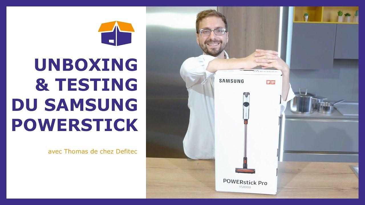 Unboxing Samsung Power Stick Pro - démo de l'aspirateur balai et de ses accessoires