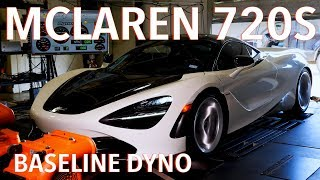 McLaren 720S Baseline Chassis Dyno Testing