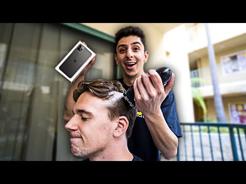 Download Giving People The iPhone 11 IF They Shave Their Head... HD Mp4 3GP Video and MP3