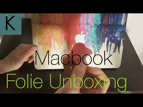 Macbook Air Farben Folie Unboxing