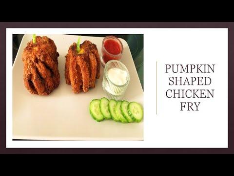 , title : 'How to make chicken fry I Pumpkin shape chicken fry I chicken fry without bread crumbs I
