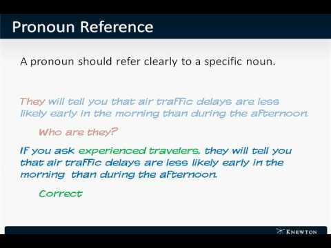 Gmat Verbal Mini Lesson Pronoun Errors