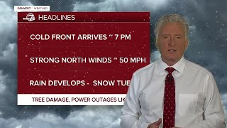 Colorado snow timeline: Cold front arrives around 7 PM