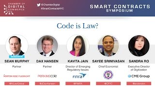 Video presentation of Code is Law? - Smart Contracts Symposium